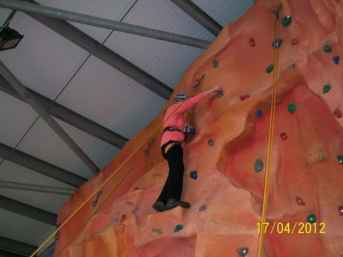 Aileen up the wall