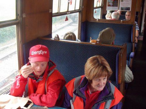 Andrew & Jean on The Norton Manor Steam Train