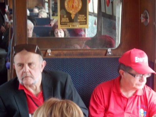 Ernest & Phillip on The Norton Manor Steam Train