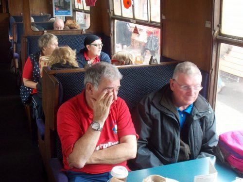 Granham & Russ on The Norton Manor Steam Train
