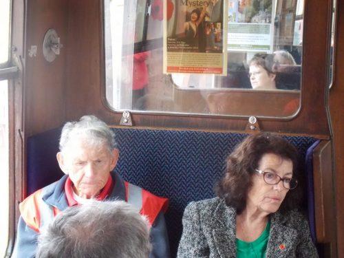Harry & Eileen on The Norton Manor Steam Train