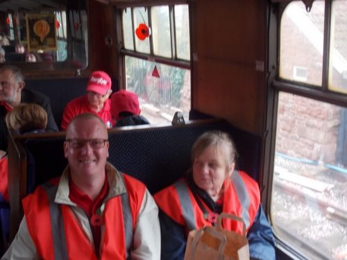 Julie & Paul on The Norton Manor Steam Train