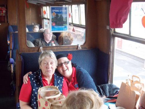 Kym & Ann on The Norton Manor Steam Train