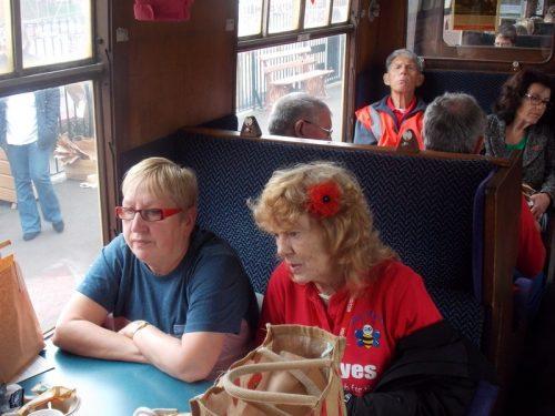 Philomena & Aileen on The Norton Manor Steam Train