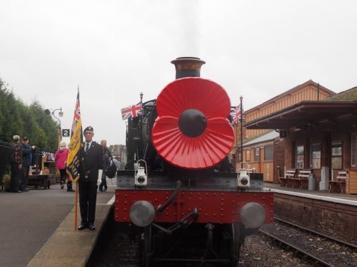 The Norton Manor Steam Train with Poppy.