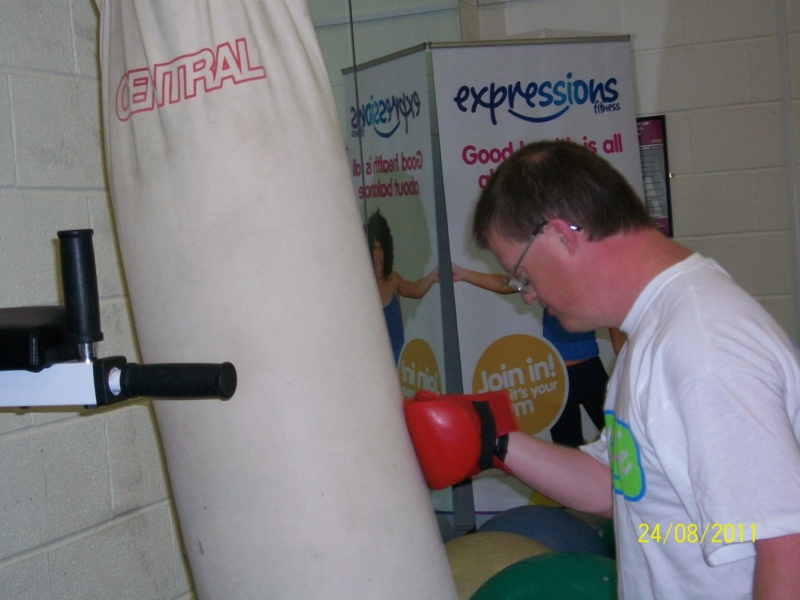 Andrew Lindell boxing at Hans Price Gym