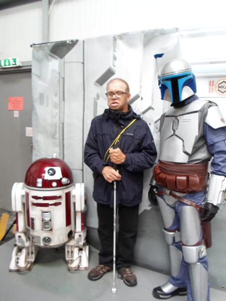 R2D2, Nick and a clone trooper