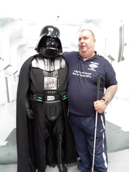 Rob getting friendly with Darth Vader