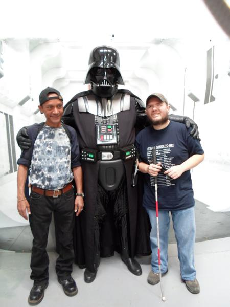 Warren and Tony with Darth Vadder