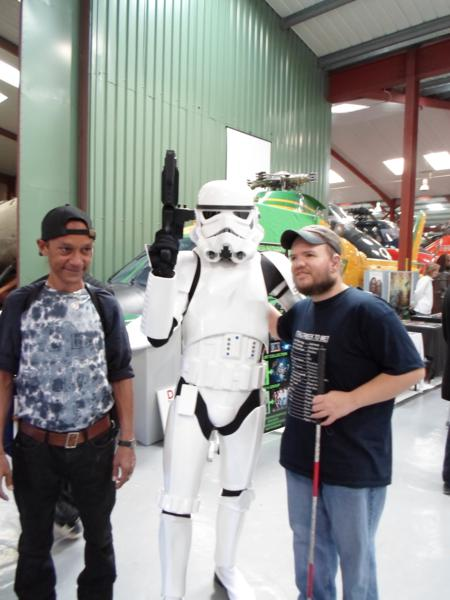 Warren and Tony with a Clone Trooper