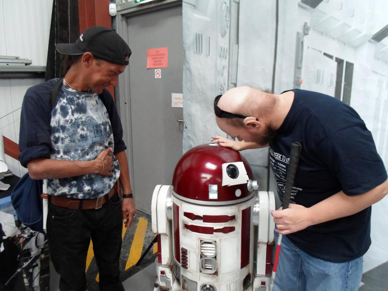 Warren, R2D2 and Tony. What is Tony saying!
