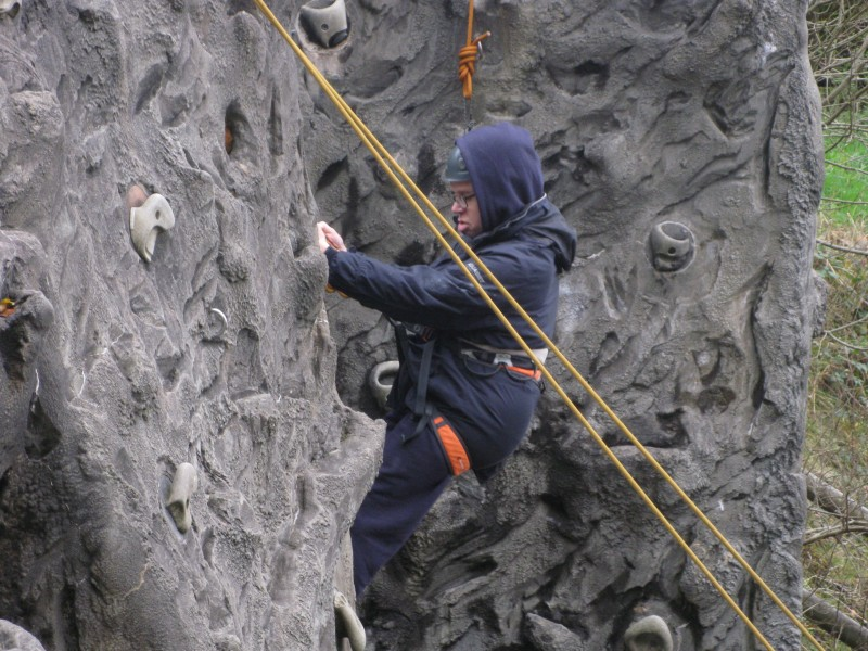James, rock climbing 30th October 2012