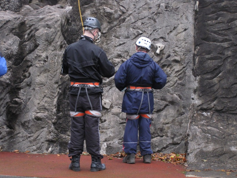 Nick and Andrew preparing to rock climb 30th October 2012