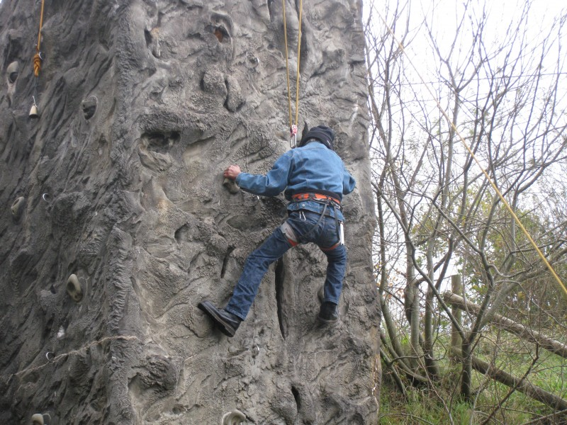 Warren rock climbing