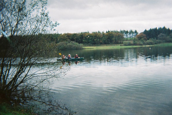 Canoeing on the reservoir