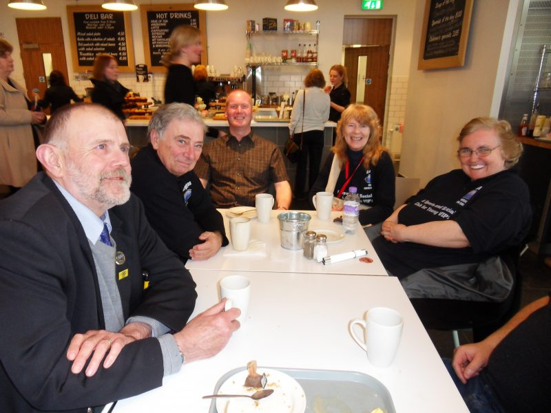 Phillip, Russ, Paul, Aileen & Jayne having a cuppa in the M Shed
