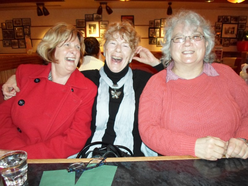 Jean, Aileen & Sally having a good time in Frankie & Bennies