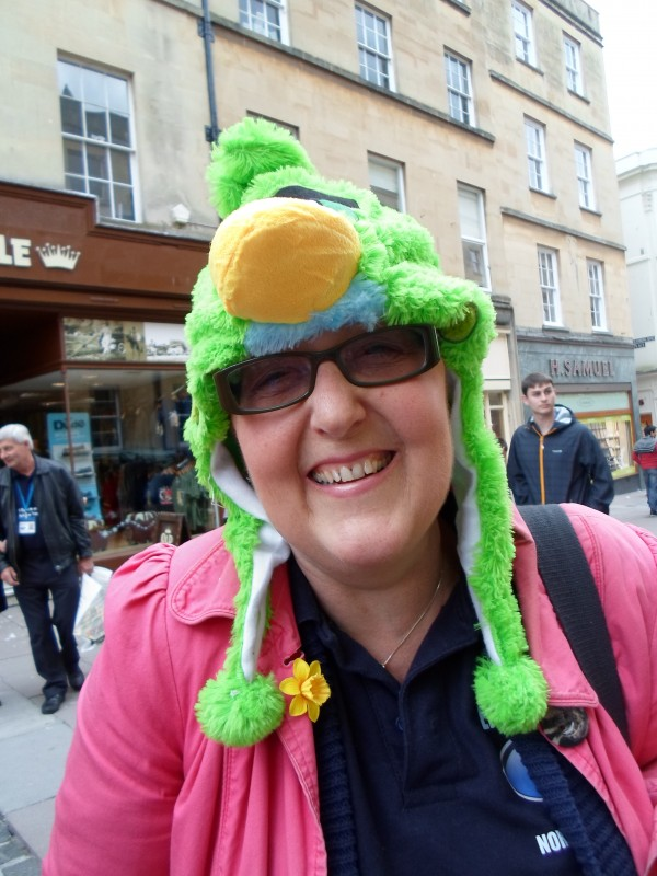Kym with her latest hat!