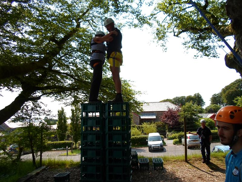 Jeanie & Spud on the crate stacking