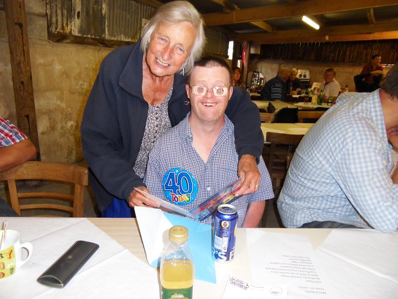 ANDREW, BIRTHDAY BOY, WITH HIS MUM ELIZABETH