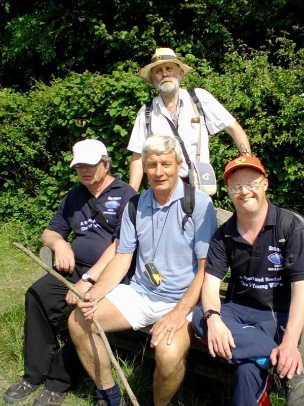 Ernest, Spud, Phillip & Andrew near Redhill