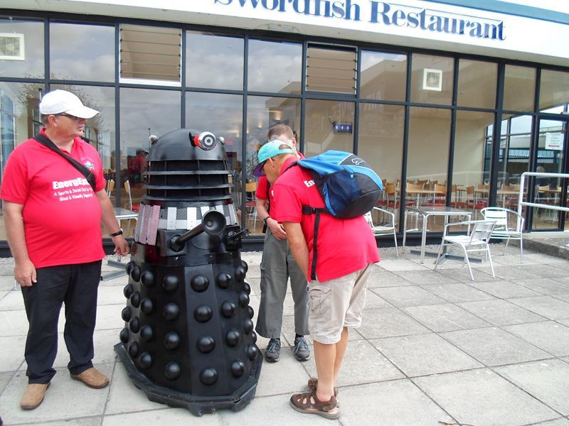 Ernest, Dalek, Andrew & James checking out the Dalek