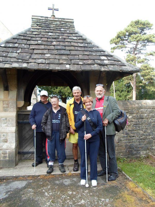 Ernest, Andrew, Spud, Jean & Phillip outside Barrow Gurney church yard