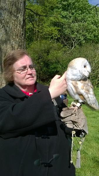 Jayne and a Barn Owl