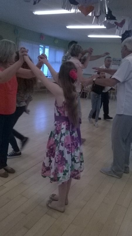 Gwen, Ernest's sister, Poppy and a few others dancing