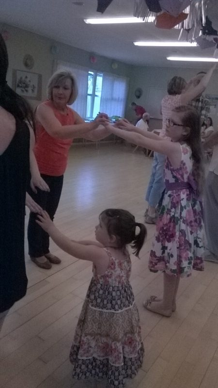 Gwen & Poppy, Ceri and her daughter Poppy dancing