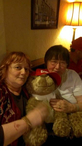Carol, friend and ORLA, Mascot