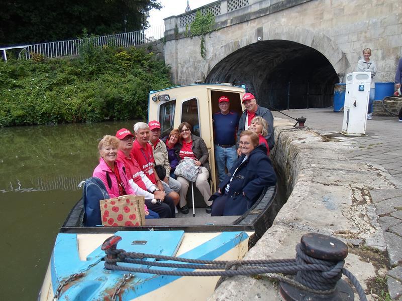 Aileen, Ernest, Spud, Matthew, Jean, Kym, Andy, Russ, Su & Jayne aboard Pamela before out memorable trip