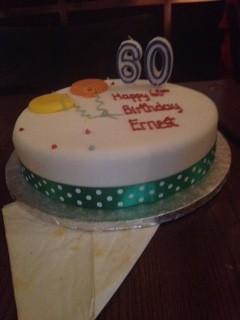 Ernest's birthday cake