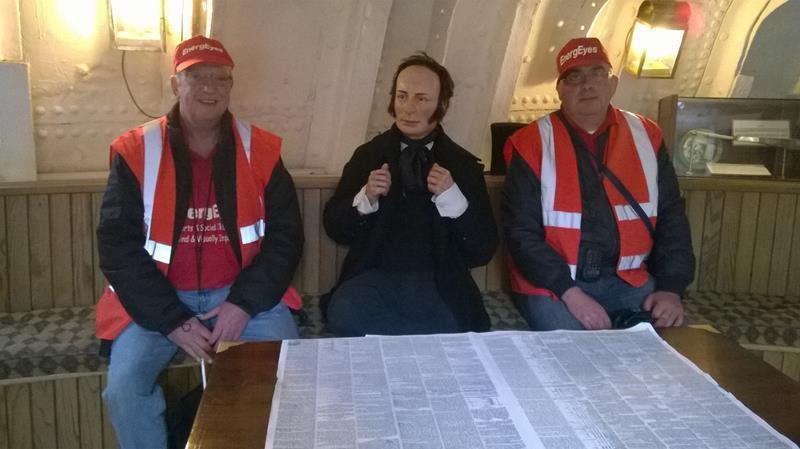 Andy & Matthew sat next to Isambard Kingdom Brunel