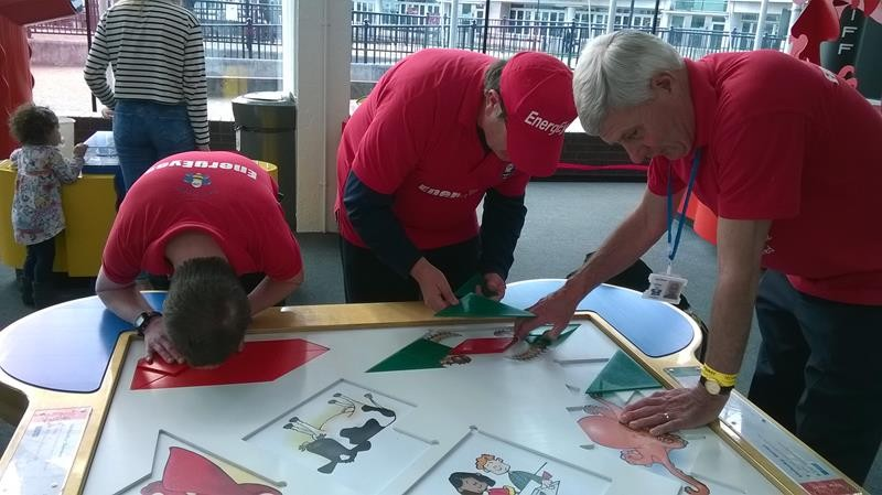 Andrew, Ernest & Spud trying to finish the puzzle