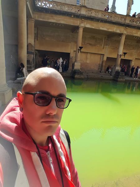 Rob inside The Roman Baths