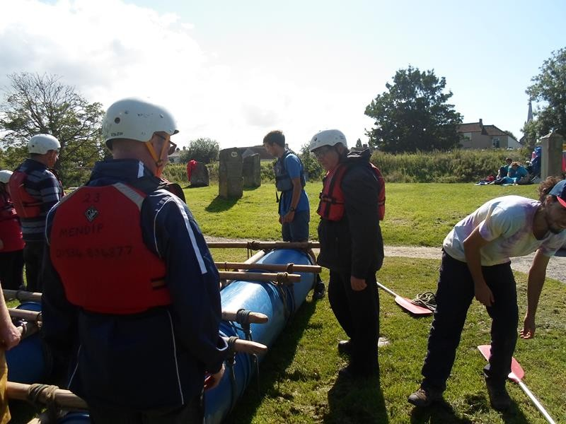 "Congresbury, launching our raft ""EnergEyes 1"""