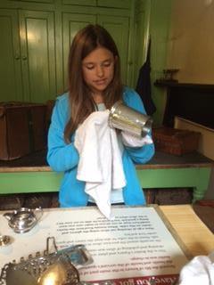 Hayley doing some polishing