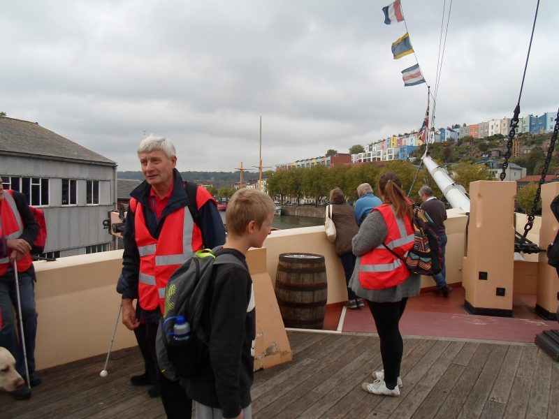 On the top deck of the SS Great Britain