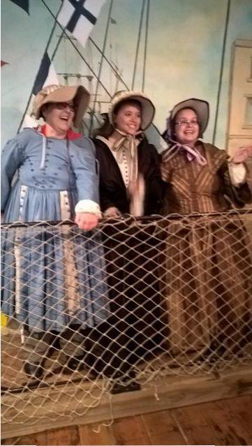 Kym, Hayley & Seena in the Dockyard Museum