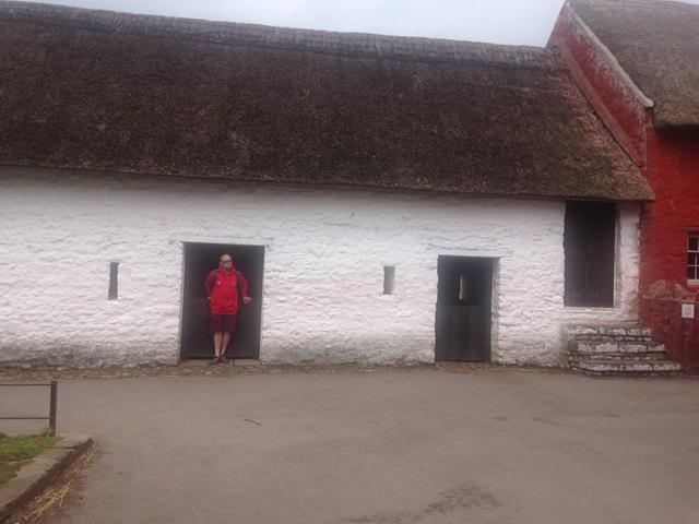 James outside the stables.