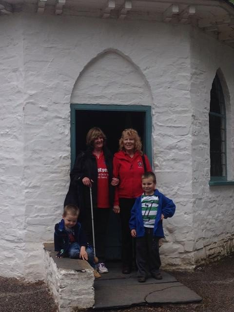 Sam, Jean, Aileen and Max outside the Toll Gate.