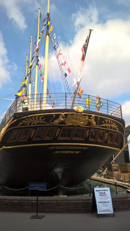 SS GREAT BRITAIN WITH GOLD LEAF DECORATION ON THE STERN