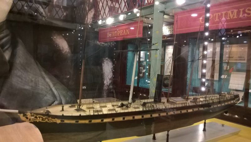 TACTILE MODEL OF SS GREAT BRITAIN INSIDE THE SHOP