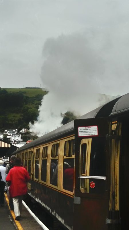OUR TRAIN AT PAIGNTON, PULLED BY KING EDWARD II