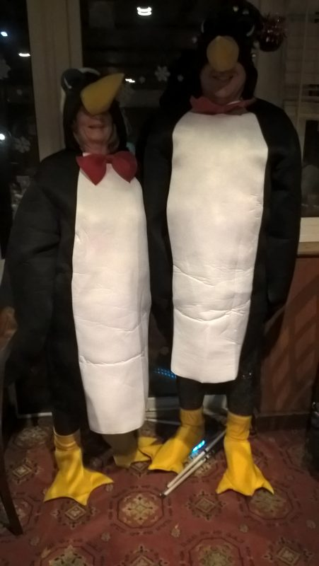 TWO PENGUINS NOW, GUESS WHO IS WITH JULIE.