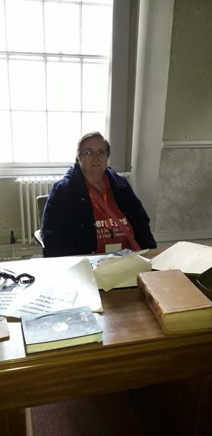 LADY JAYNE IN THE GOVERNOR'S OFFICE.