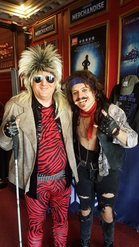 """John, in the foyer at the Bristol Hippodrome, with """"Lonny"""" Lucas Rush, who was amazing as the narrator."""