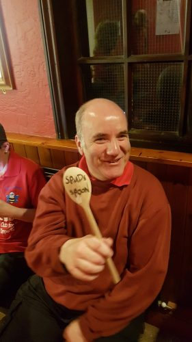 "BRICK WALL WINNING THE ""WOODEN SPOON"", SPUD'S SPOON"