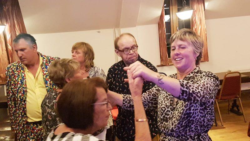 JOHN, JULIE, PAM, JAMES, SU DANCING WITH EILEEN.